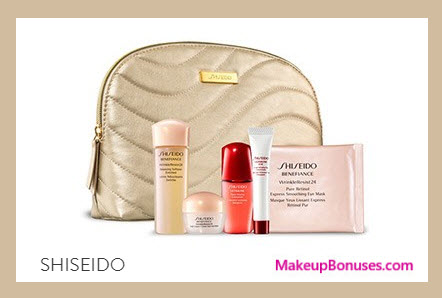Receive a free 6-pc gift with your $50 Shiseido purchase