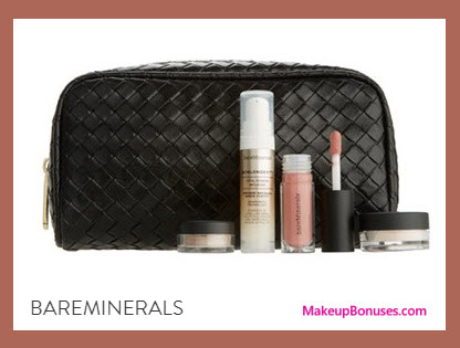Receive a free 5-pc gift with your $60 bareMinerals purchase