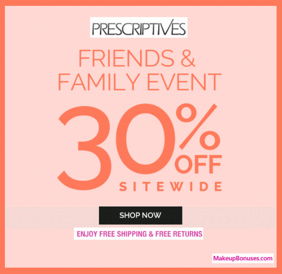 Prescriptives Sale - MakeupBonuses.com
