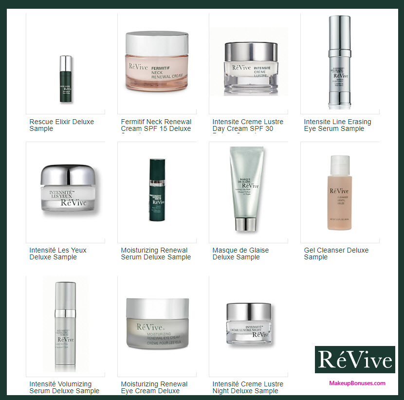 Receive your choice of 6-pc gift with your $350 RéVive purchase