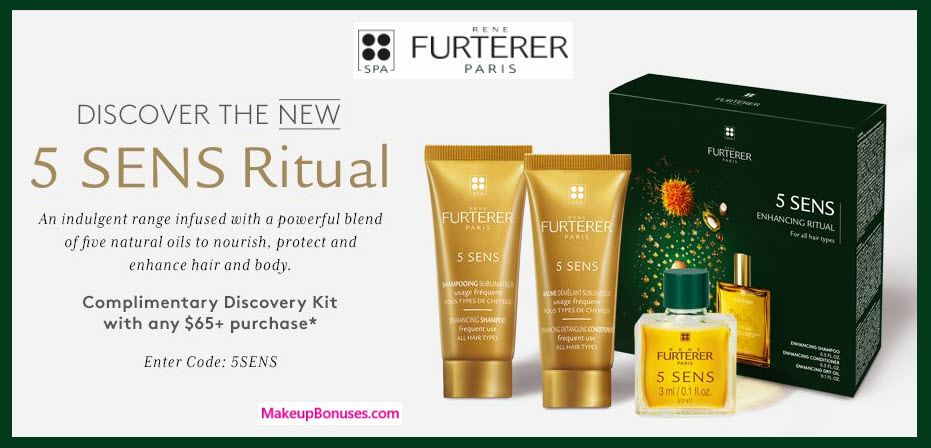 Receive a free 3-pc gift with your $65 René Furterer purchase
