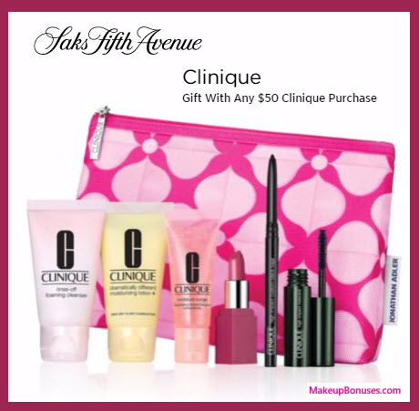 Receive a free 7-pc gift with your $50 Clinique purchase