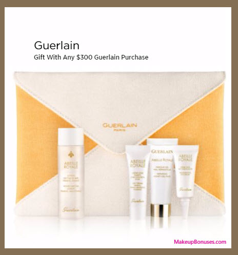 Receive a free 5-pc gift with your $300 Guerlain purchase