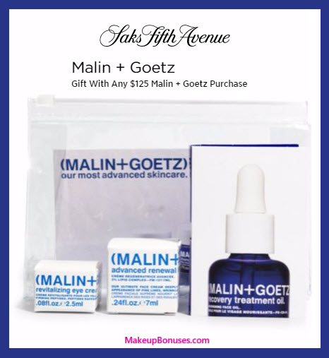 Receive a free 3-pc gift with your $125 Malin + Goetz purchase