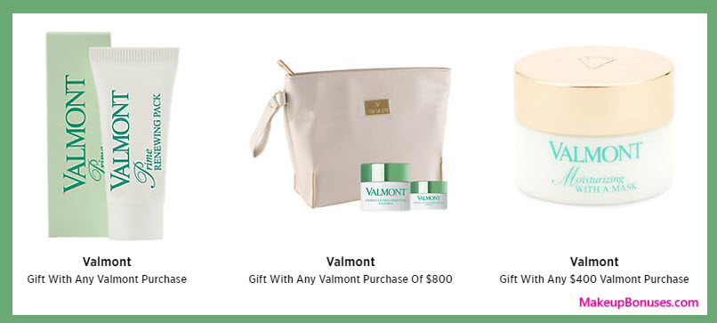 Receive a free 3-pc gift with your $800 Valmont purchase