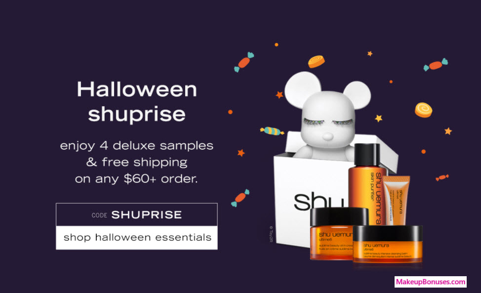 Receive a free 4-pc gift with your $60 Shu Uemura purchase