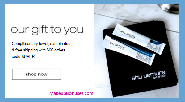 Receive a free 3-pc gift with your $60 Shu Uemura Art of Hair purchase