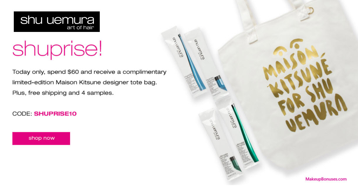 Receive a free 5-pc gift with your $60 Shu Uemura Art of Hair purchase