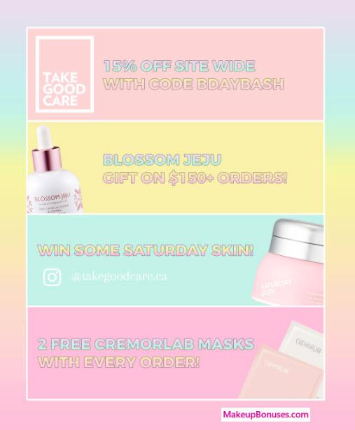 Take Good Care Sale - MakeupBonuses.com