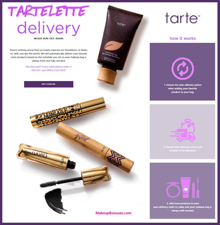 Tarte Auto Delivery Service - MakeupBonuses.com