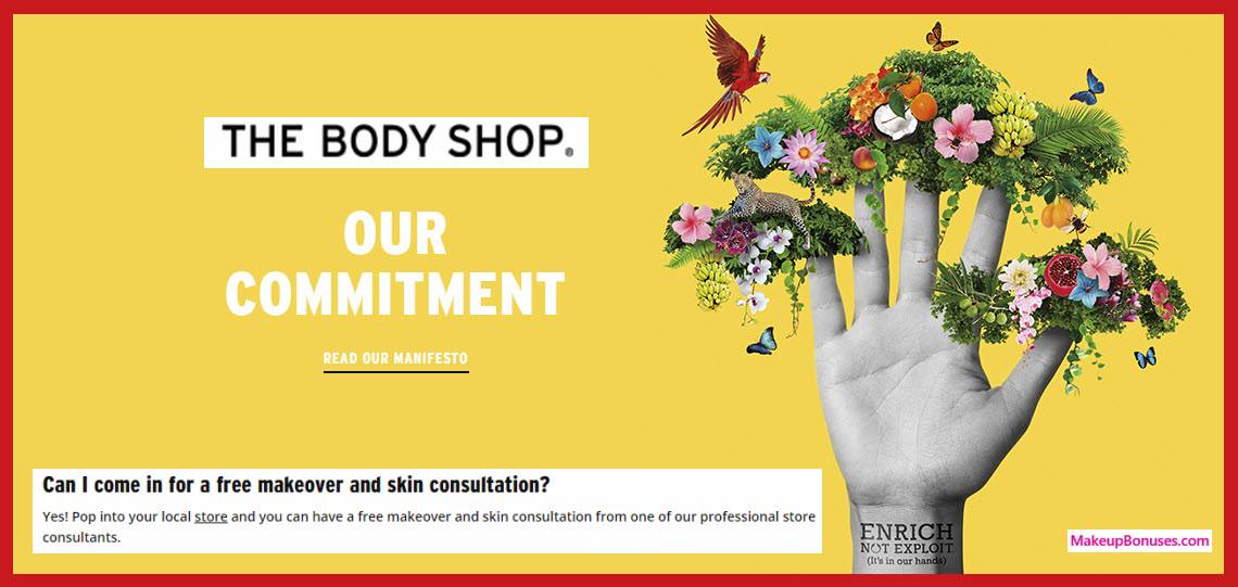 The Body Shop Beauty Svs - Free Makeover & Skin Consultation - MakeupBonuses.com