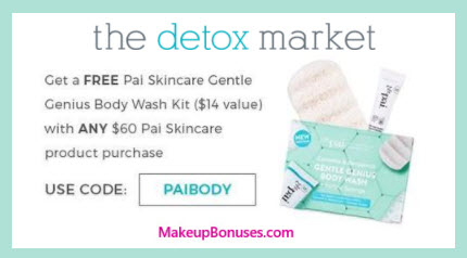 Receive a free 3-pc gift with your $60 Pai Skincare purchase