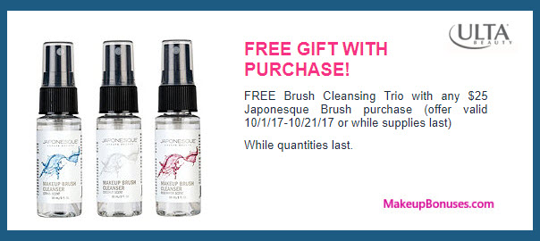 Receive a free 3-pc gift with your $25 Japonesque purchase