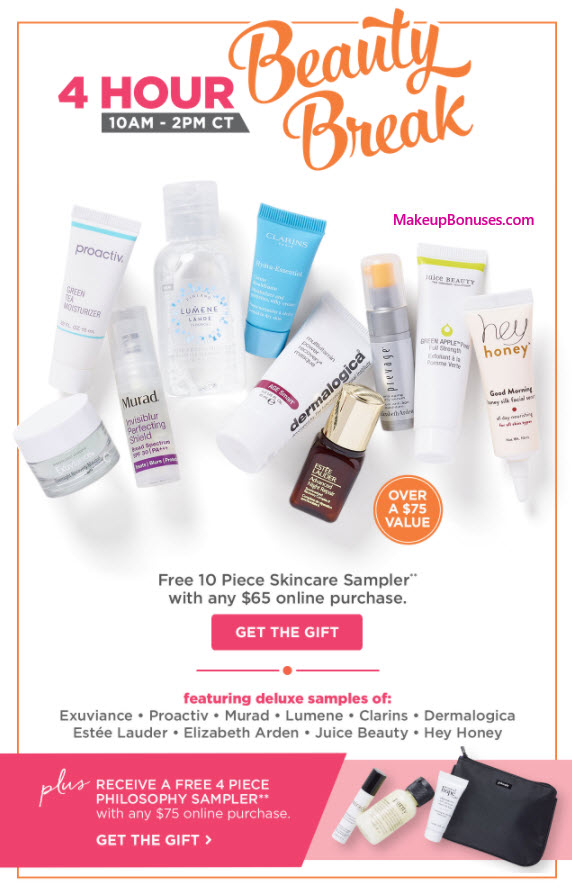 Receive a free 10-pc gift with your $65 Multi-Brand purchase