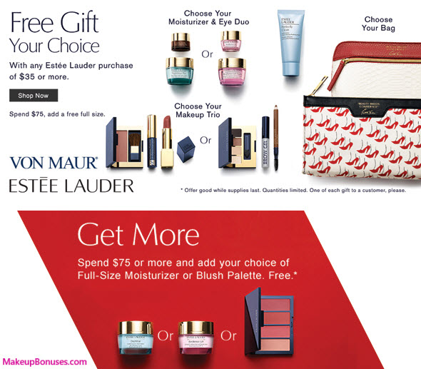 Receive a free 7-pc gift with your $35 Estée Lauder purchase