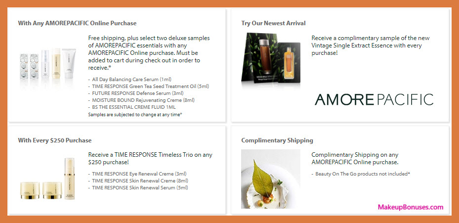 Receive a free 3-pc gift with your $250 AMOREPACIFIC purchase