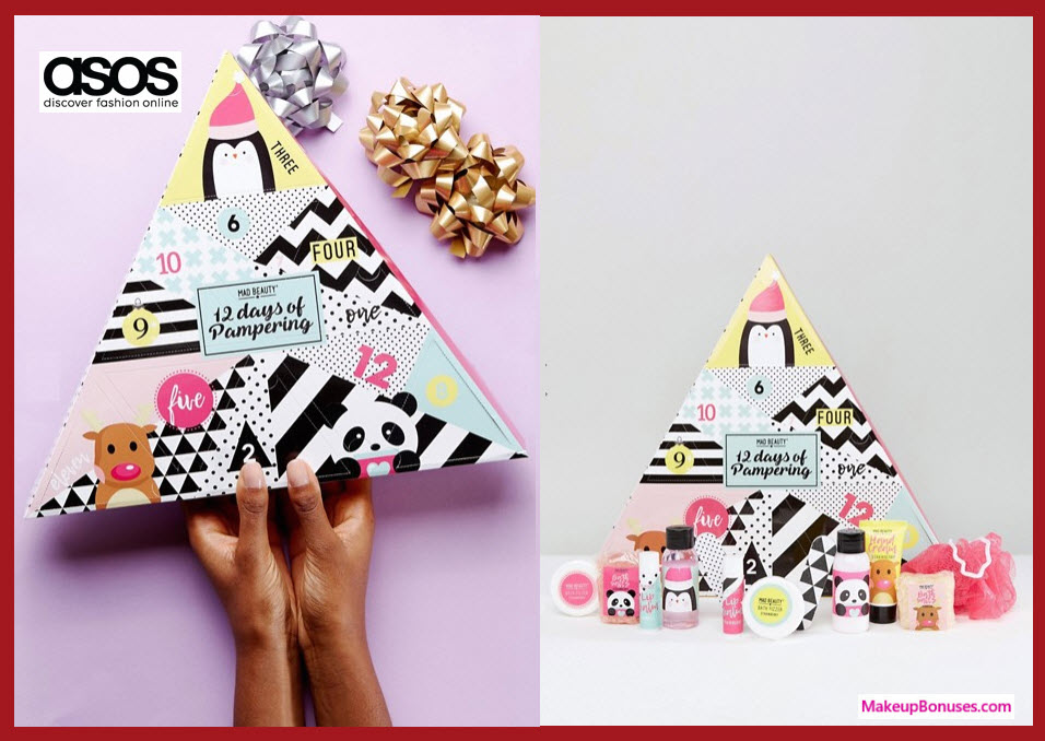 MAD Beauty ASOS Exclusive 12 Day Advent Calendar- MakeupBonuses.com