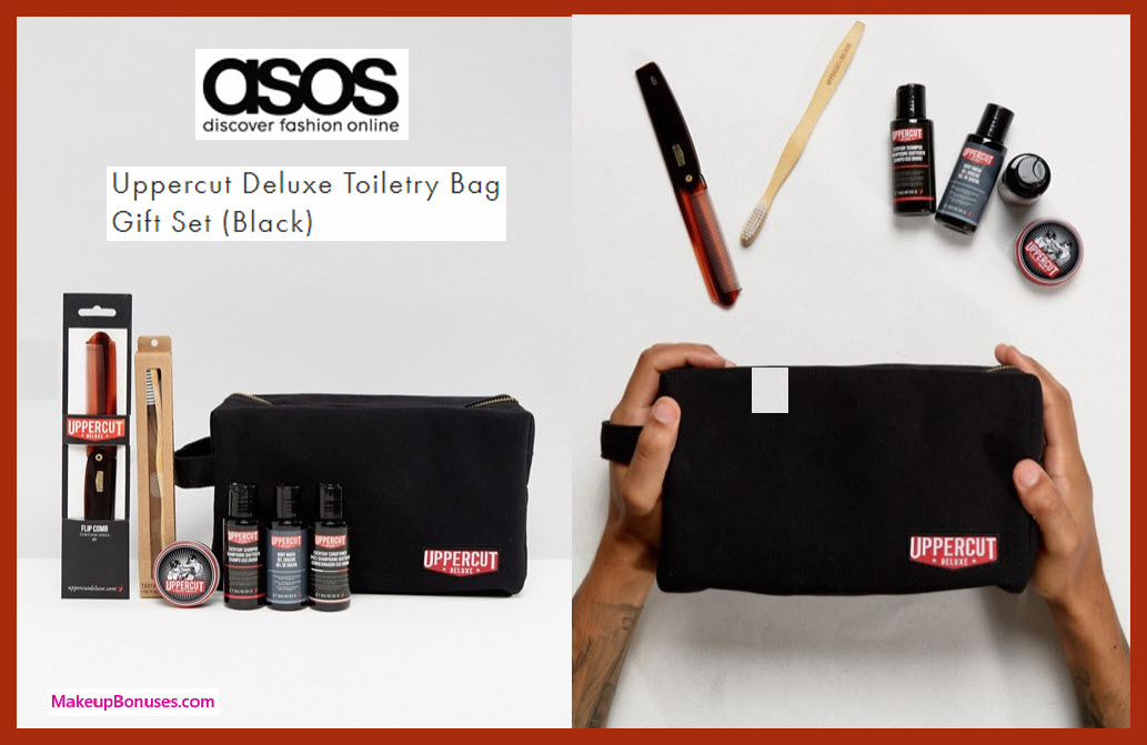 Uppercut Deluxe Toiletry Bag Gift Set (Black) - MakeupBonuses.com