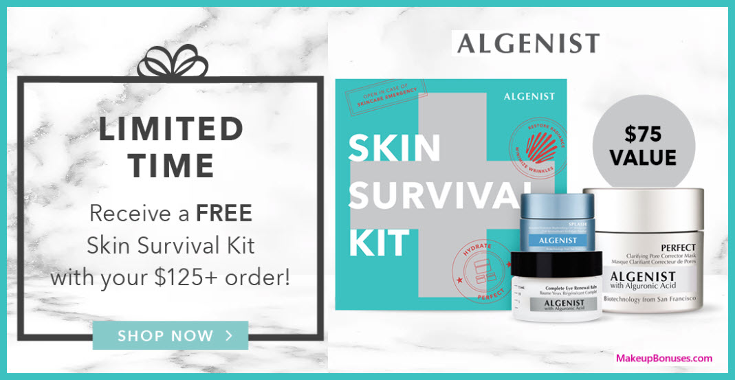 Receive a free 3-pc gift with your $125 Algenist purchase