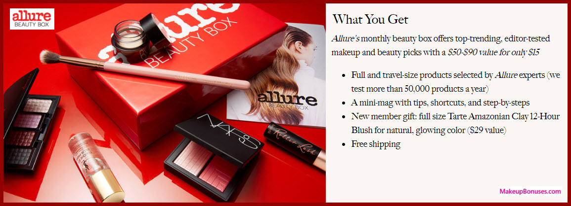 Allure Beauty Box - MakeupBonuses.com