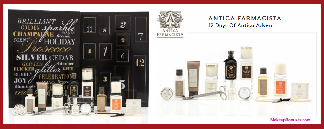 12 Days of Antica Advent- MakeupBonuses.com