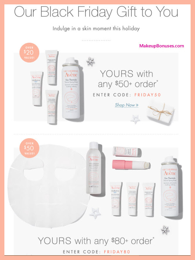 Receive a free 7-pc gift with your $80 Avène purchase