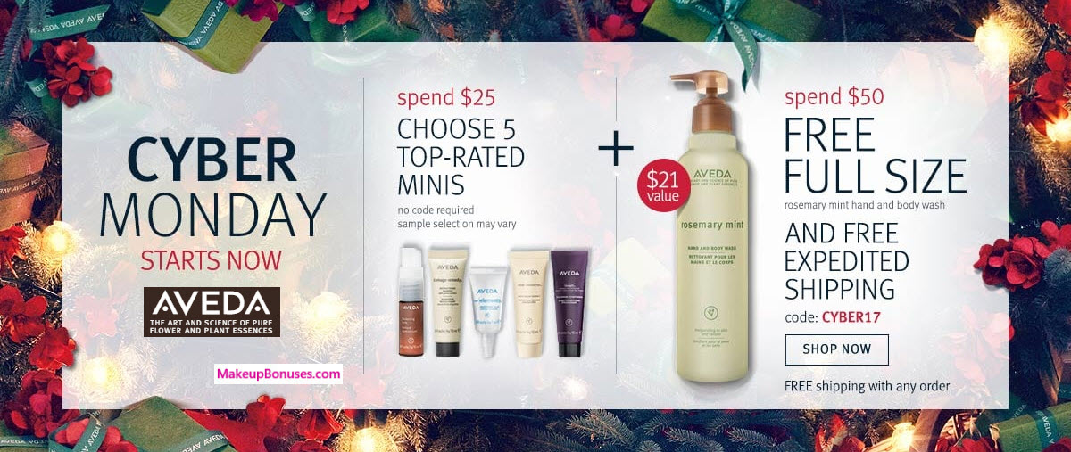 Receive your choice of 5-pc gift with your $25 Aveda purchase