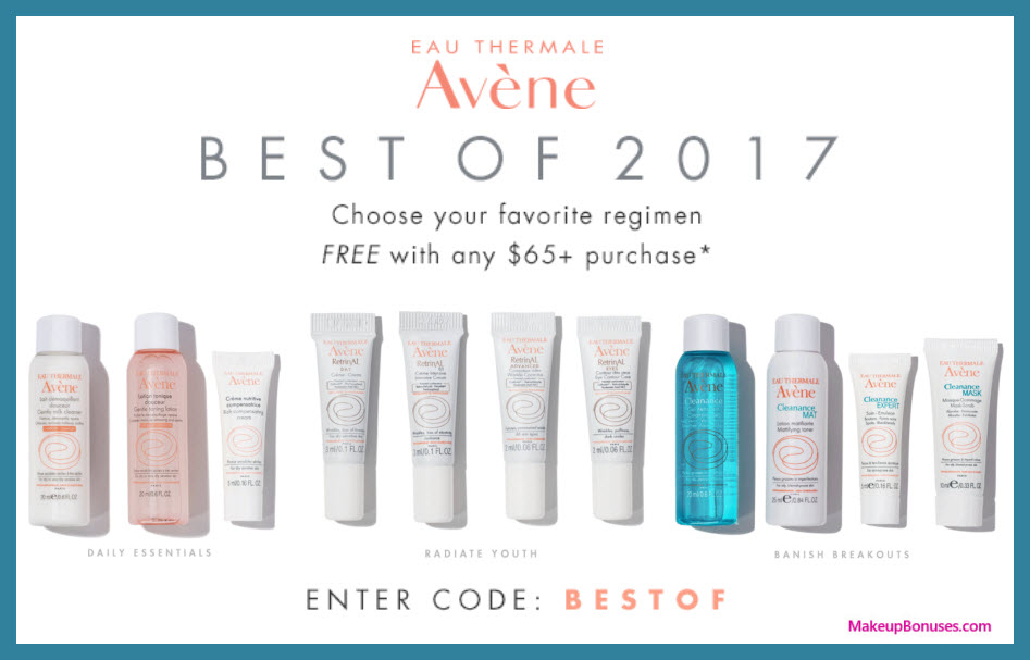Receive a free 3-pc gift with your $65 Avène purchase