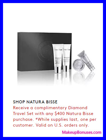 Receive a free 4-pc gift with your $400 Natura Bissé purchase