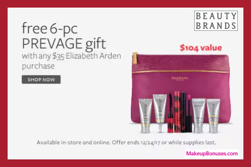 Receive a free 6-pc gift with your $35 Elizabeth Arden purchase