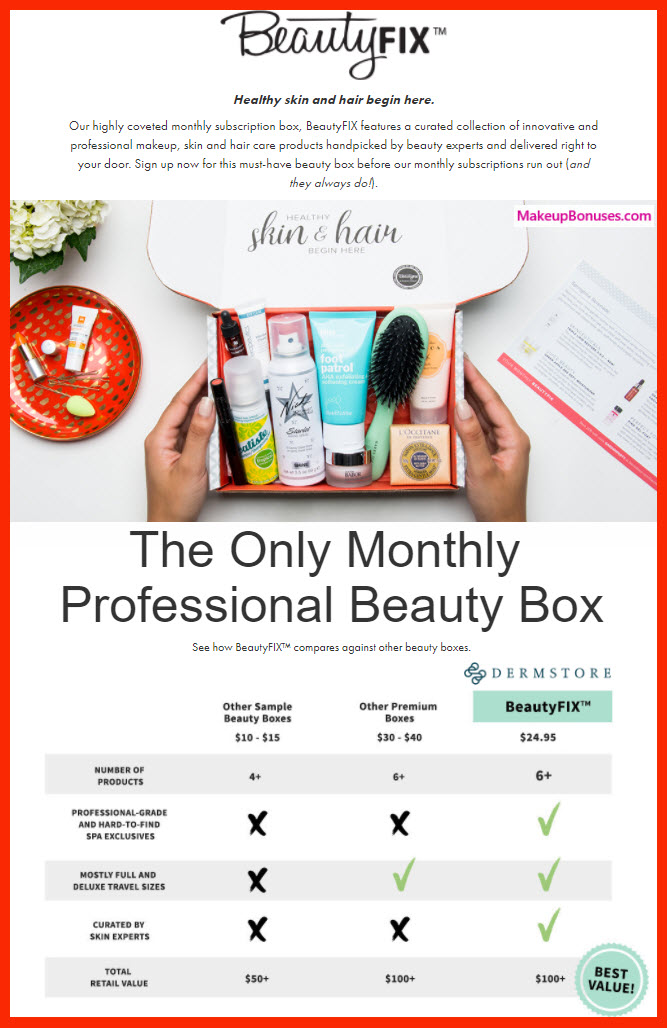 BeautyFIX by DermStore Beauty Box - MakeupBonuses.com