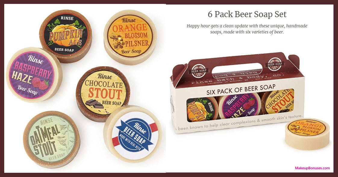 6 Pack Beer Soap Set - MakeupBonuses.com