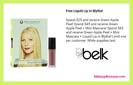Receive a free 3-pc gift with your $65 Juice Beauty purchase