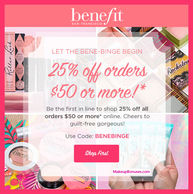 Benefit Cosmetics Sale - MakeupBonuses.com