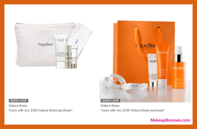 Receive a free 8-pc gift with your $300 Natura Bissé purchase