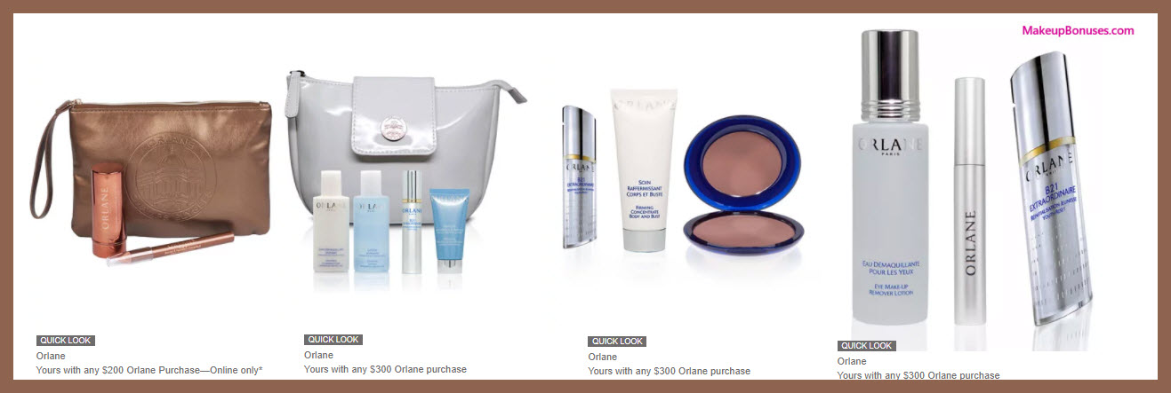 Receive a free 13-pc gift with your $300 Orlane purchase