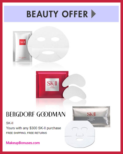 Receive a free 3-pc gift with your $300 SK-II purchase
