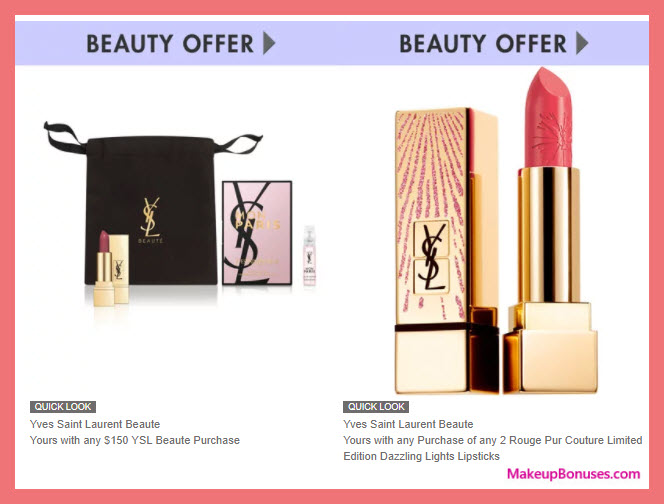 Receive a free 3-pc gift with your $150 Yves Saint Laurent purchase