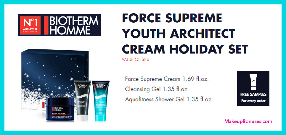 FORCE SUPREME YOUTH ARCHITECT CREAM HOLIDAY SET - MakeupBonuses.com
