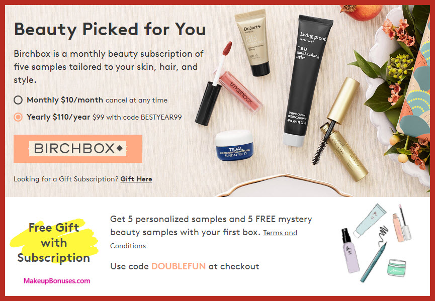 Birchbox Beauty Box - MakeupBonuses.com