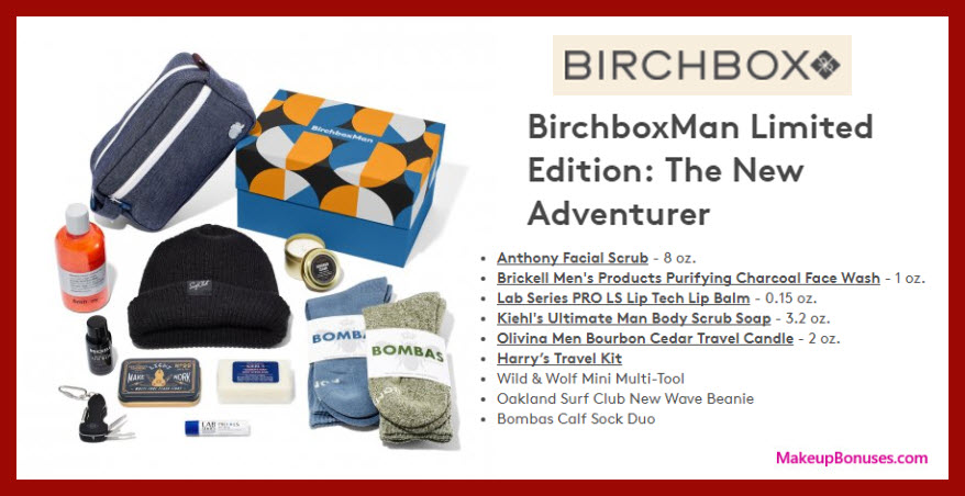 BirchboxMan Limited Edition: The New Adventurer - MakeupBonuses.com