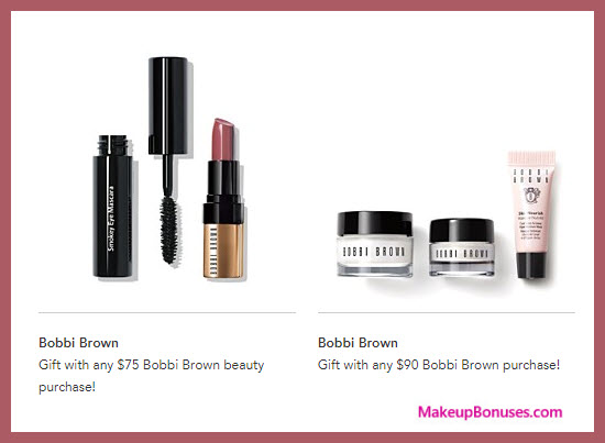 Receive a free 5-pc gift with your $90 Bobbi Brown purchase