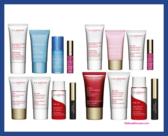 Receive your choice of 4-pc gift with your $75 Clarins purchase