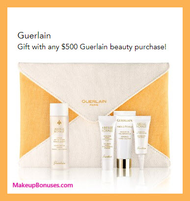 Receive a free 5-pc gift with your $500 Guerlain purchase