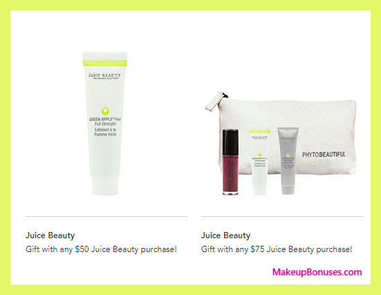 Receive a free 5-pc gift with your $75 Juice Beauty purchase