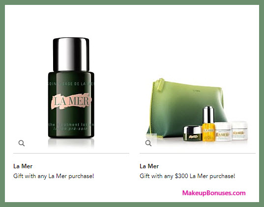 Receive a free 6-pc gift with your $300 La Mer purchase