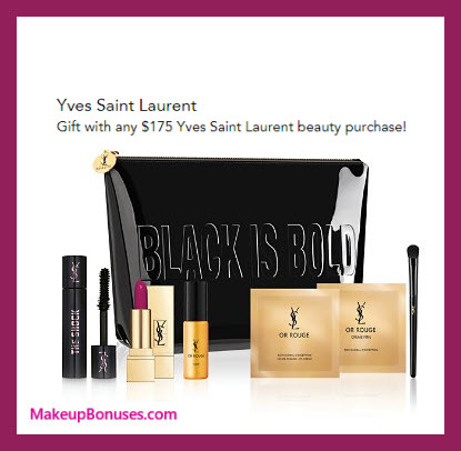 Receive a free 7-pc gift with your $175 Yves Saint Laurent purchase