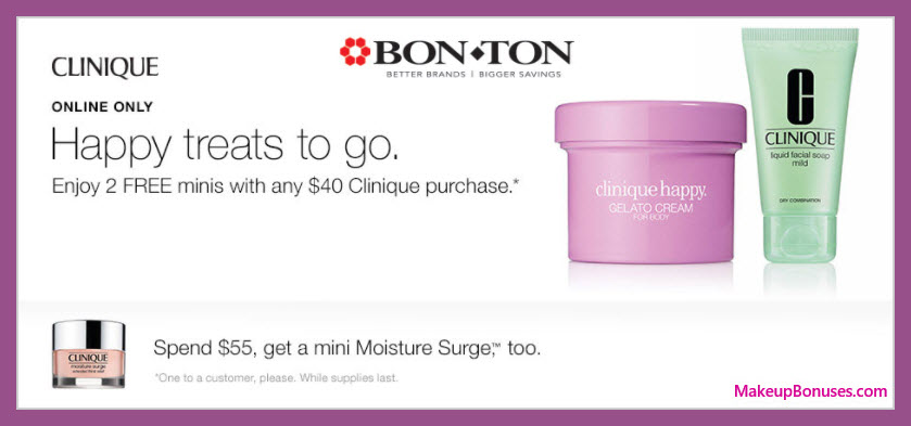 Receive a free 3-pc gift with your $55 Clinique purchase