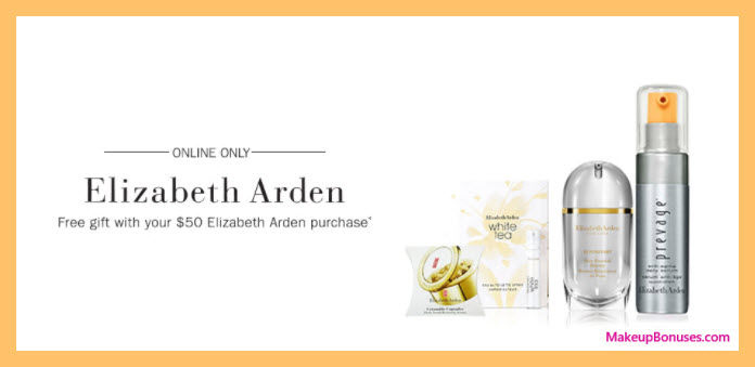 Receive a free 5-pc gift with your $50 Elizabeth Arden purchase