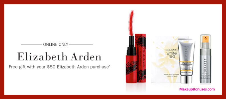Receive a free 4-pc gift with your $50 Elizabeth Arden purchase